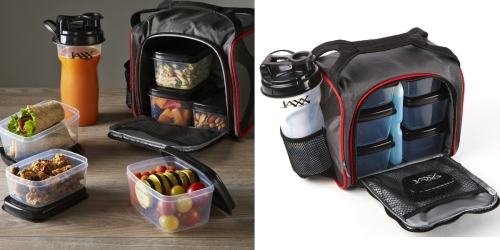 Insulated Meal Prep Bag w/ 6 Portion Control Containers AND Shaker Cup Just $25 Shipped
