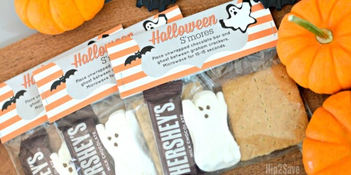 Make Halloween S'mores Kits With Our FREE Printable Bag Toppers