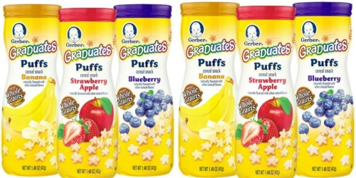 Amazon Family: Gerber Graduates Puffs 6-Count Variety Pack Only $7.98 Shipped