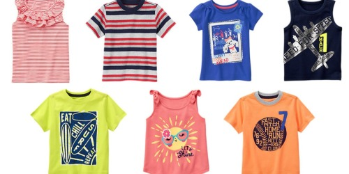Gymboree: 60% Off Clearance Sale = Tees, Tanks & Shorts Only $2.80, Swimwear Just $5.20 + More