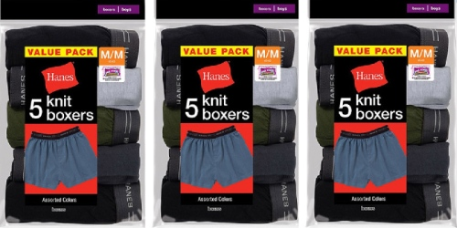 Walmart.com: Hanes Boys' Knit Boxers 5-Pack ONLY $6 (Regularly $11.47)