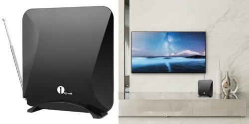 Amazon: 40-Mile Amplified Indoor HDTV Antenna w/ Detachable Amplifier ONLY $23.99