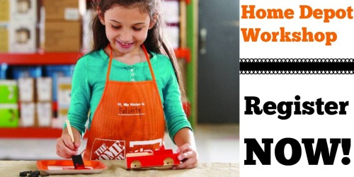 Home Depot Workshop: Register NOW to Build Free Fire Truck on October 1st