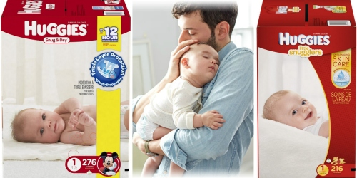 Amazon Family: Up to 35% Off Huggies Diapers = Snug & Dry Diapers Just 10.8¢ Each Shipped + More