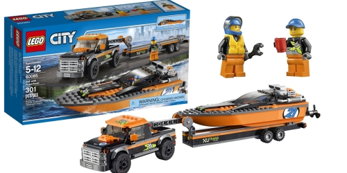 LEGO City 4×4 with Powerboat Only $17.99 (Regularly $29.99)