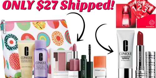 Macy's: Free 7-Piece Gift ($70 Value) w/ $27 Clinique Purchase = Lip Color, Cream, & Gift Just $27 Shipped