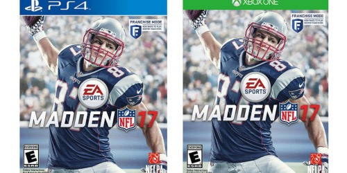 Madden NFL 17 for PlayStation or Xbox Only $39.99 Shipped (Regularly $59.99)