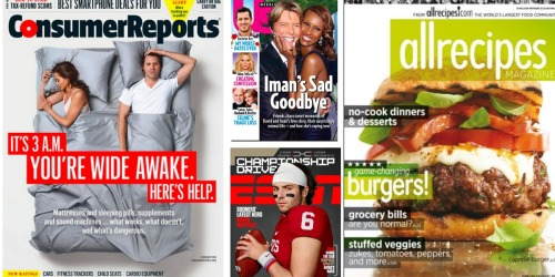 Shop the Weekend Magazine Sale! Save on US Weekly, Consumer Reports, ESPN & More
