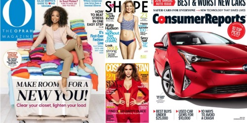 Weekend Magazine Sale: Save on Oprah, Consumer Reports, US Weekly & Much More