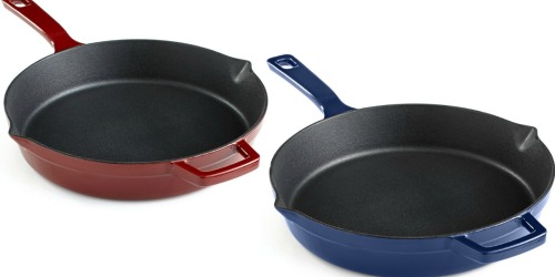 Macy's: Martha Stewart Enameled Cast Iron 10″ Fry Pan Only $29.99 (Regularly $79.99)