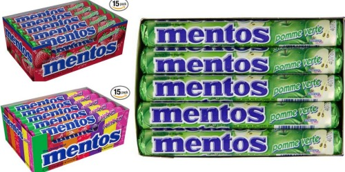 Amazon: Mentos Rolls 15-Pack Only $7.30 Shipped (Just 49¢ Per Roll!)