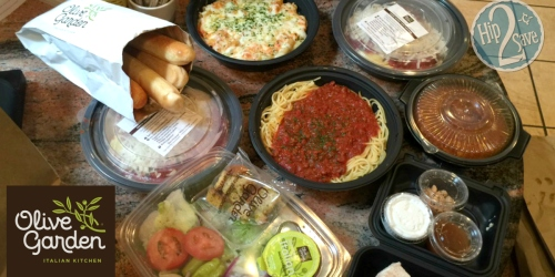 Score 4 Olive Garden Entrees, 2 Soups/Salads, 4 Breadsticks & Pumpkin Cheesecake for Under $30