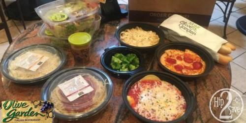 Score 4 Olive Garden Entrees, 2 Soups/Salads, 4 Breadsticks & Kids' Meal for Under $30