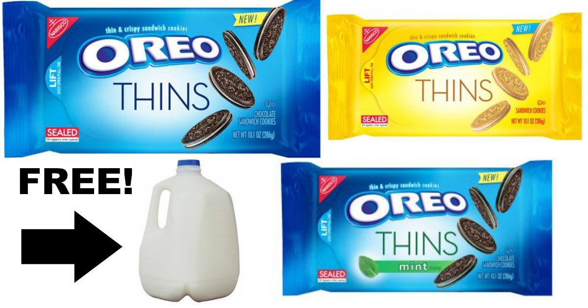 Oreo Thins Milk Offer