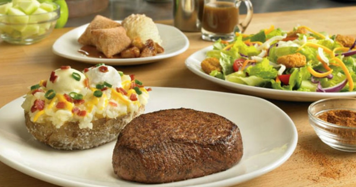 steak and baked potato dinner at outback steakhouse