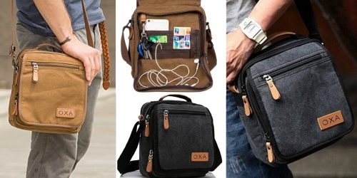 Amazon: Highly Rated OXA Canvas Cross Body Messenger Bag Only $17.99 (Regularly $29.99)