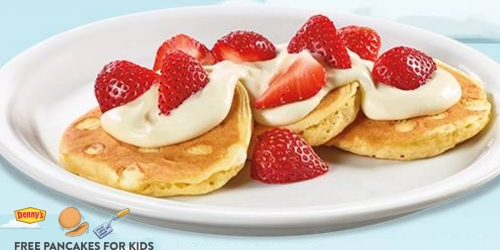 Denny's: FREE Pancakes For Kids In September From 4PM-10PM (With Adult Entree Purchase)