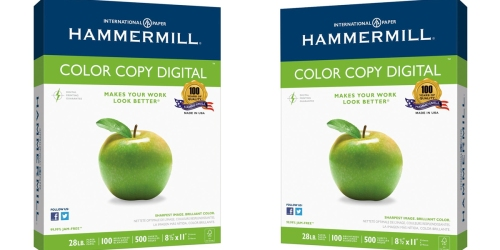 Hammermill Color Copy Digital Paper Ream Only $8.99 (Regularly $17.99) – Awesome Reviews
