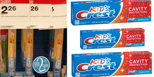 Target: Crest Kids' Toothpaste Just 96¢ + More