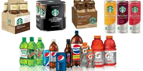 Target: $5 Off $20 Pepsi Beverages Coupon – Includes Starbucks (Starting 10/2)