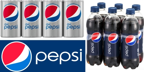 Print $10 in RARE Pepsi Soda Coupons = 12-Packs As Low As 69¢ Each at Target (After Cash Back)