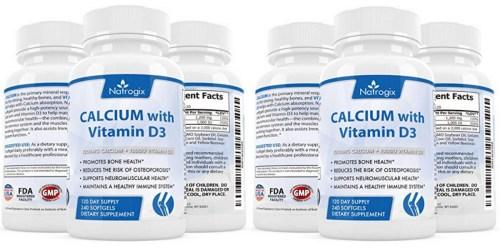 Amazon: Natrogix CALCIUM + Vitamin D3 Complex 240-Count Just $18.19 (Promotes Strong Bones)