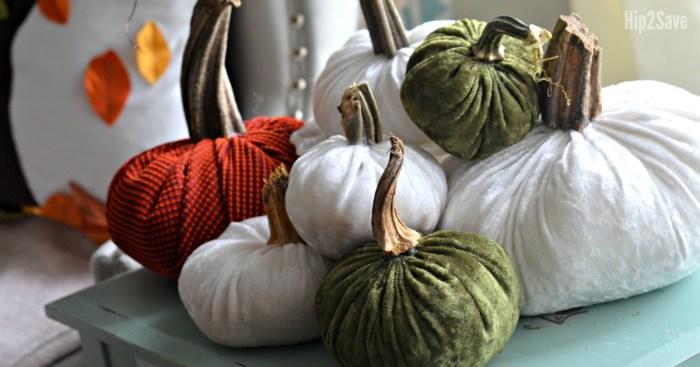 DIY Plush Velvet Pumpkins (Festive Fall Decorating Idea)