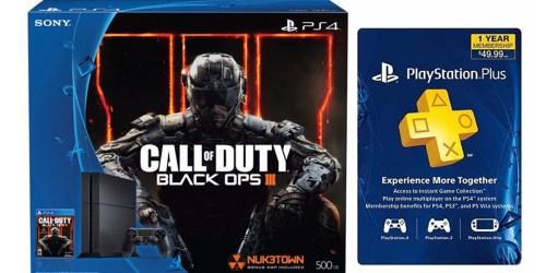 PlayStation 4 Call of Duty 500GB Bundle + PlayStation Plus 1 Year Membership $299.99 Shipped