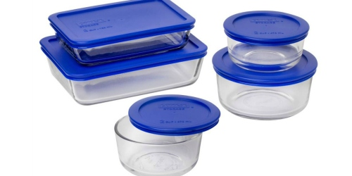Target: Pyrex 10-Piece Storage Set w/ Lids Only $11.51
