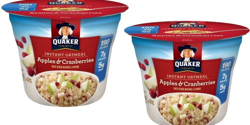Amazon: Quaker Instant Oatmeal Apples & Cranberries 24-Count Cups Just $15.58 Shipped