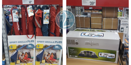 Sam's Club: Possible Outdoor Clearance Deals ($4.91 Sport-Brella Plus, $39.91 Camping Tent & More)