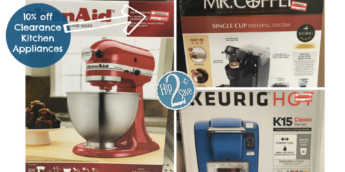 Target Cartwheel: 10% Off Clearance Kitchen Small Appliances (Save on KitchenAid, Keurig & More)