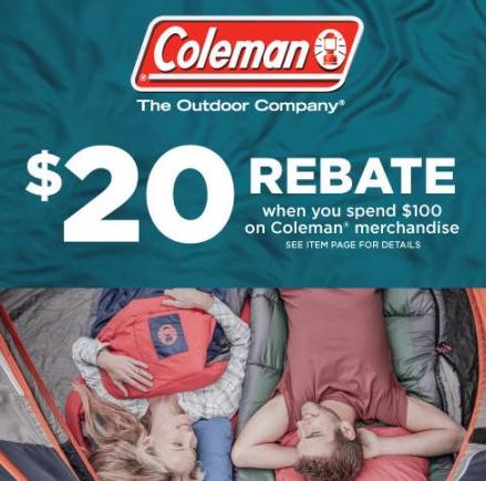 Coleman Rebate