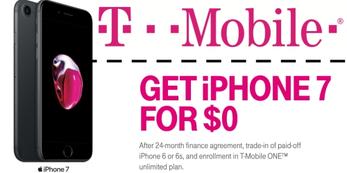 T-Mobile: FREE iPhone 7 with 24-Month Finance Agreement & iPhone 6 Trade-In