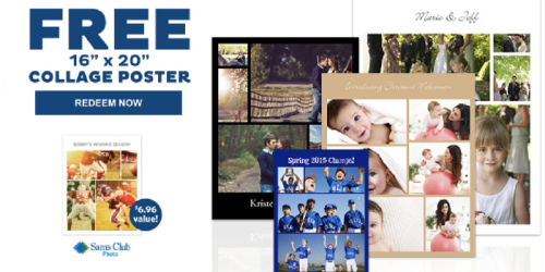 Sam's Club: Possible FREE Collage Poster Valued at $6.96 (Check Your Inbox)