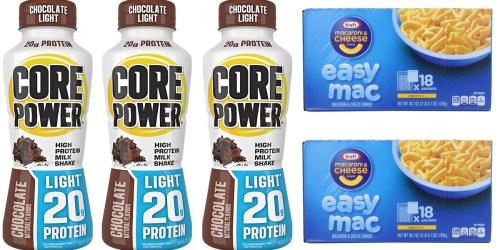 Amazon: HUGE Savings on Core Power Protein Shakes AND Kraft Easy Mac & Cheese