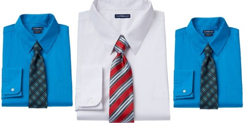 Kohl's Cardholders: Men's Croft & Barrow Dress Shirt & Tie Sets Only $7 Shipped (Regularly $50)