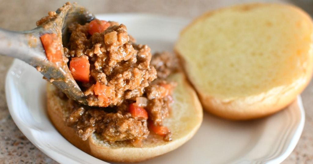 sloppy joe sandwich on a bun