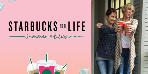 Only 4 Days Left to Enter! Five Win Free Starbucks for Life (+ 2 Million Win Free Bonus Stars)