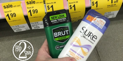 Walgreens: Free Brut AND Sure Deodorant