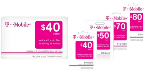 Target.com: Nice Discounts On T-Mobile Prepaid eCards