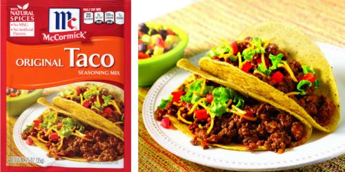 NEW $1/4 McCormick Seasoning Coupon = Taco Seasoning Just 42¢ Each At Target