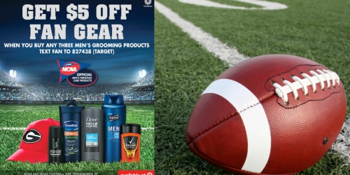 Target: $5 Off Fan Gear Item w/ Purchase of Men's Unilever Products (In-Store or Online)