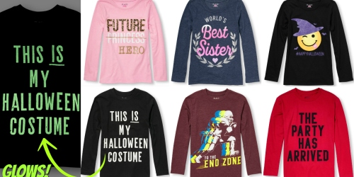 The Children's Place: EIGHT Long-Sleeve Graphic Tees Just $30 Shipped (Only $3.75 Each!)