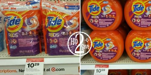 *NEW* Tide PODS & Gain Flings Coupons = Nice Deals at Target, Walmart & Walgreens