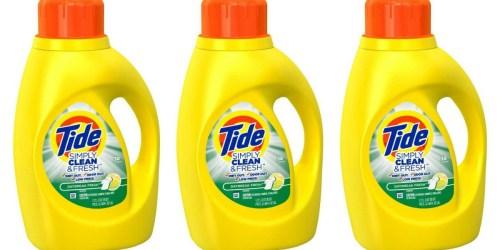 Target: Tide Simply Clean & Fresh Detergent Large 60 oz Bottles Only $2.82 Each