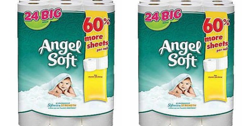 Staples: Angel Soft 2-Ply BIG Bath Tissue Rolls 24-Pack Only $7.99 (Just 33¢ Per BIG Roll!)