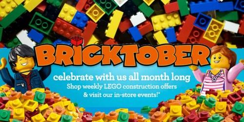 ToysRUs: Free LEGO Bricktober Events in October