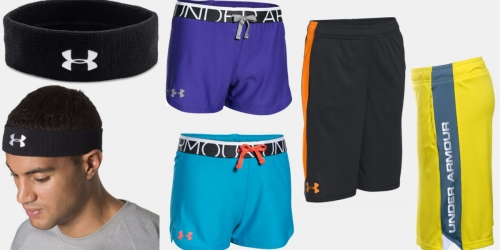Under Armour: 25% Off Outlet = $4.99 Headbands, $8.99 Girls' Shorts & More