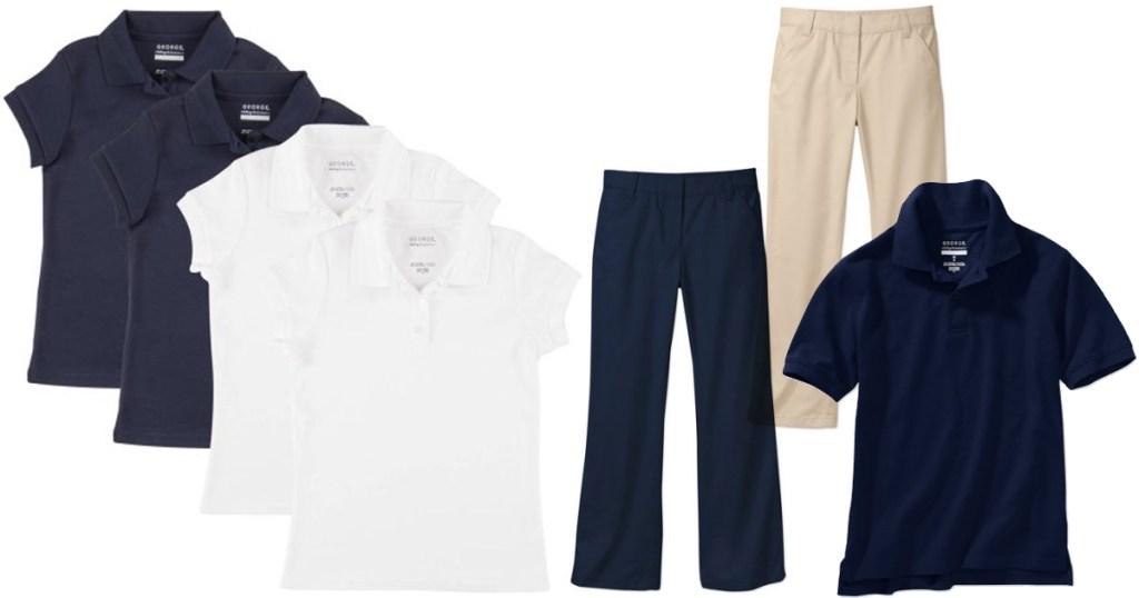Walmart School Uniform Clearance Boys Polo Shirts Only 350
